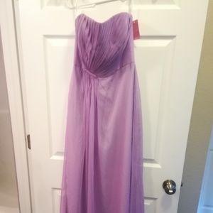 Pretty Strapless Lavender Gown Size 6